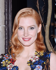 Jessica Chastain looked as gorgeous as ever with her perfect waves while attending the Bergdorf Goodman 'Crimson Peak' window unveiling.