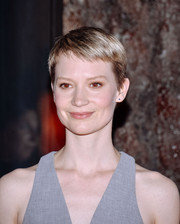 Mia Wasikowska looked summer-cool with her pixie while attending the Bergdorf Goodman 'Crimson Peak' window unveiling.