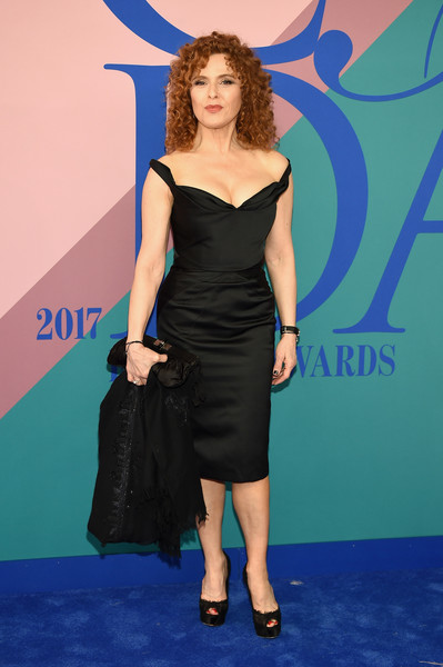 Bernadette Peters Off-the-Shoulder Dress