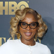 Mary J. Blige's curled bob