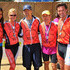 (L-R) Crystle Stewart, Nancy O'Dell, Keith Zubchevich, Aaron Meyerson and Max Sebrechts wear their medals after crossing the finish line of the Best Buddies Challenge: Hearst Castle Rideon September 8, 2012 in San Simeon, California.