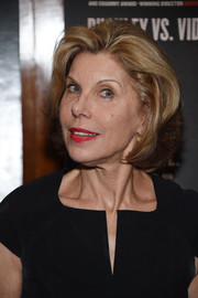 Christine Baranski sported a bob at the New York premiere of 'Best of Enemies.'