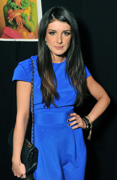 Shanae Grimes wore her layered cut sleek and smooth at the Betsey Johnson fall 2012 fashion show.
