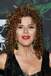 Bernadette Peters attended the 2017 Hulaween event wearing her hair in a curly updo.