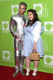 Of course, Beanie Feldstein teamed her frock with a pair of ruby-red shoes.