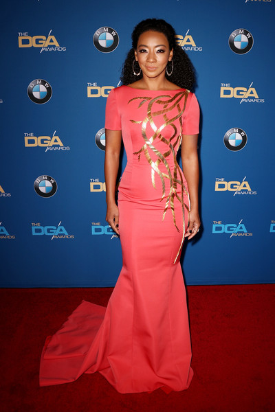 Betty Gabriel Mermaid Gown [red carpet,clothing,dress,carpet,fashion model,shoulder,hairstyle,fashion,flooring,electric blue,arrivals,betty gabriel,beverly hills,california,the beverly hilton hotel,directors guild of america awards]