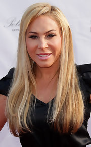 Adrienne Maloof kept it simple with a long straight 'do at the Beverly Hills Fashion Festival.