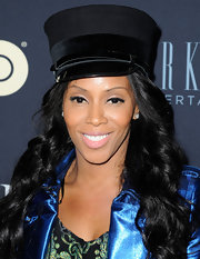 June Ambrose went for a playful military look with a suede cap at the 'Beyonce: Life is But a Dream' NYC premiere.