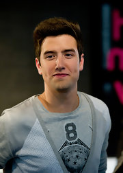 Logan Henderson sported a spiked 'do at the Big Time Rush poster signing.