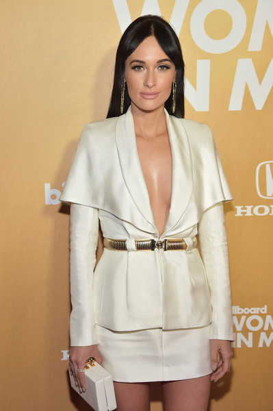 More Pics of Kacey Musgraves Pumps (4 of 5) - Kacey Musgraves Lookbook - StyleBistro [billboard,clothing,fashion,beauty,fashion model,hairstyle,outerwear,leg,suit,dress,beige,pier 36,new york city,13th annual women in music event,kacey musgraves]