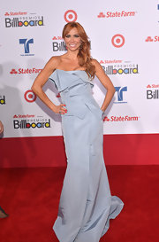 The construction of Aylin Mujica's gown was dazzling. The way the fabric folded and intertwined on the bodice was the best part of her whole look.