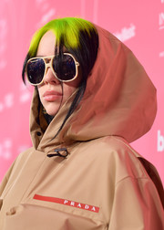 Billie Eilish hit the Billboard Women in Music 2019 wearing a pair of oversized sunnies by Gucci.