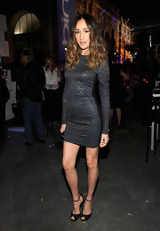 Maggie Q teamed black peep-toes with her LBD for a classic finish.