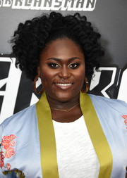 Danielle Brooks showed off a stylish curly 'do at the New York premiere of 'BlacKkKlansman.'