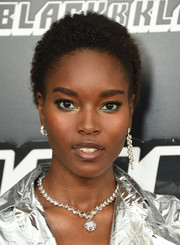 Damaris Lewis attended the New York premiere of 'BlacKkKlansman' wearing her natural curls.