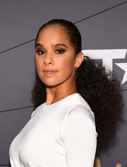Misty Copeland styled her hair into a ponytail that was sleek at the top and curly down the ends for the 2018 Black Girls Rock! event.