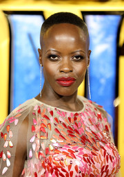 Florence Kasumba wore her hair in a buzzcut at the European premiere of 'Black Panther.'