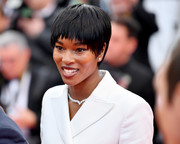 Damaris Lewis looked stylish with her choppy pixie at the Cannes Film Festival screening of 'BlacKkKlansman.'