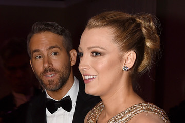 Blake Lively Ryan Reynolds 74th Annual Golden Globe Awards - Cocktail Reception