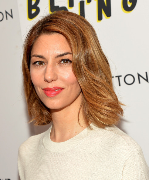 More Pics of Sofia Coppola Medium Wavy Cut (1 of 9) - Medium Wavy Cut Lookbook - StyleBistro