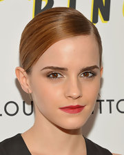 Emma Watson's rich red lips gave her an instant pop of color.