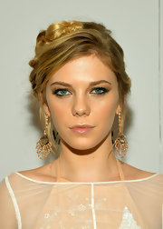 Claire pulled back her blonde tresses into this ethereal braided updo for the NYC screening of 'The Bling Ring.'