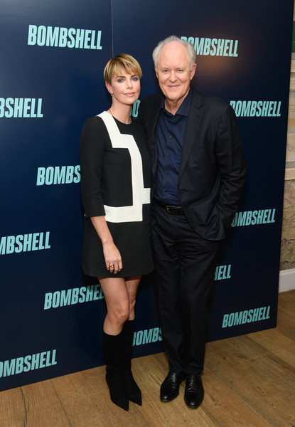 More Pics of Charlize Theron Bowl Cut (5 of 9) - Bowl Cut Lookbook - StyleBistro [bombshell,premiere,event,footwear,carpet,flooring,white-collar worker,brand,john lithgow,charlize theron,l-r,new york,screening,new york screening]