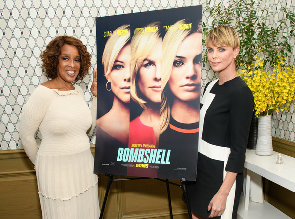 More Pics of Charlize Theron Bowl Cut (9 of 9) - Bowl Cut Lookbook - StyleBistro [bombshell,event,fun,party,charlize theron,gayle king,l-r,new york,screening,new york screening]