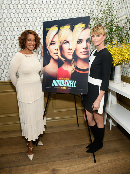 More Pics of Charlize Theron Bowl Cut (6 of 9) - Bowl Cut Lookbook - StyleBistro [bombshell,fun,event,photography,team,charlize theron,gayle king,l-r,new york,screening,new york screening]