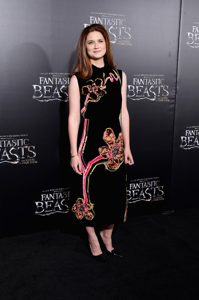 Bonnie Wright Embroidered Dress
