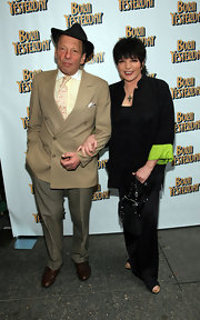 Liza Minnelli went out to see 'Born Yesterday' wearing a black blazer with green trim on the sleeves.