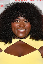 Danielle Brooks attended the Bottomless Closet spring luncheon wearing her hair in an afro.