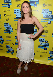 Addison Timlin opted for a hippie-inspired look at SXSW when she wore this flowing floral lace skirt.