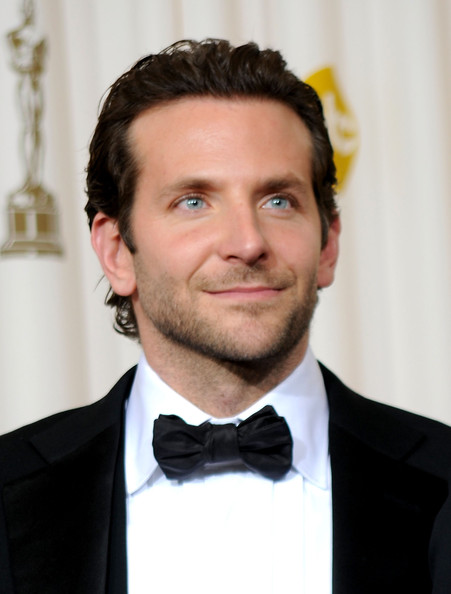 Bradley Cooper Bowtie [bradley cooper,hair,suit,facial hair,eyebrow,hairstyle,bow tie,forehead,white-collar worker,chin,tie,82nd annual academy awards,room,press room,california,hollywood,kodak theatre]