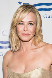 Chelsea Handler sported an asymmetrical wavy cut with side-swept bangs at the Brady Center Bear Awards Gala.