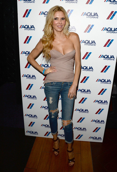 Brandi Glanville Ripped Jeans [clothing,shoulder,hairstyle,blond,fashion,long hair,footwear,joint,jeans,brown hair,bruno mars,brandi glanville,ellie goulding,hyde lounge,the staples center,aquahydrate hosts private,event,event,ellie goulding concert,concert]