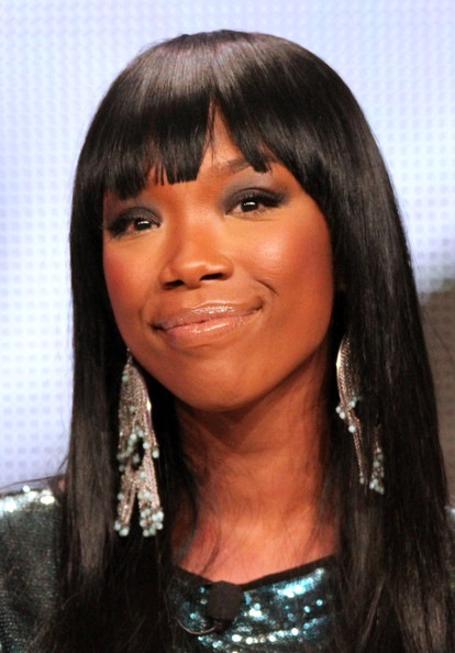 Singer Brandy speaks during the 'Majors & Minors' panel during The Hub ...