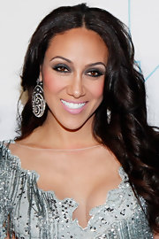 Melissa Gorga wore some seriously smoky eye makeup featuring metallic gunmetal gray shadow and lots of black eyeliner for Bravo Upfront 2012