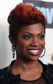 Kandi Burruss' spiked hair was statement-making, without being too over the top.