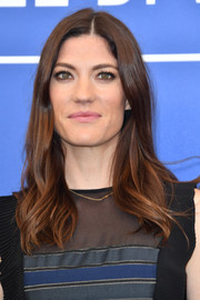 Jennifer Carpenter looked pretty with her feathery waves at the Venice Film Festival photocall for 'Brawl in Cell Block 99.'