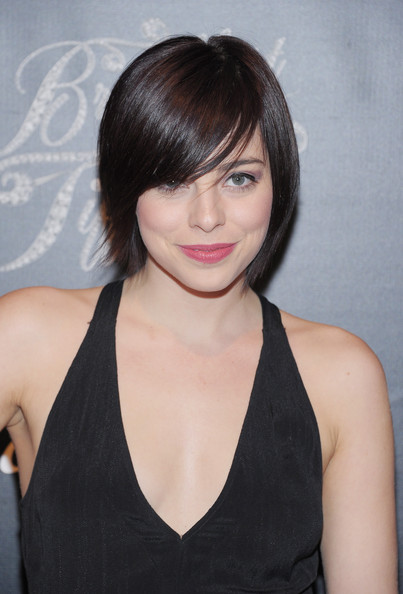 More Pics of Krysta Rodriguez Short Cut With Bangs (1 of 5) - Short Hairstyles Lookbook - StyleBistro