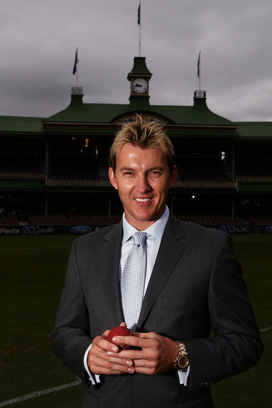 Brett Lee sported his signature spiked hair with highlights at his press conference to announce his retirement.