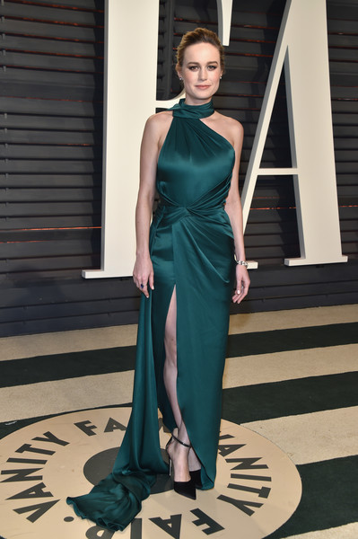 Brie Larson Halter Dress