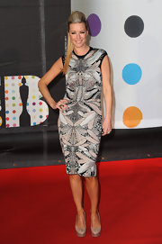 Denise van Outen was another red carpet walker to work a daring print. The silhouette was smartly simple as to not compete with the intricate design.