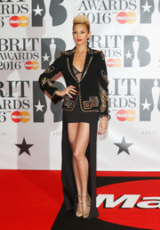 Alesha Dixon injected a dose of sexiness with a black mullet skirt.