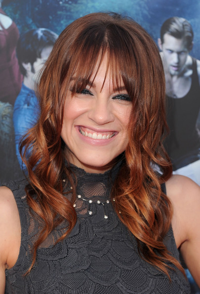 Brit Morgan Medium Curls with Bangs