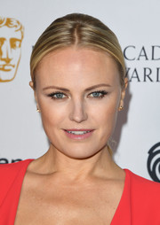 Malin Akerman pulled her hair back into a center-parted ponytail for the 2018 British Academy Game Awards.