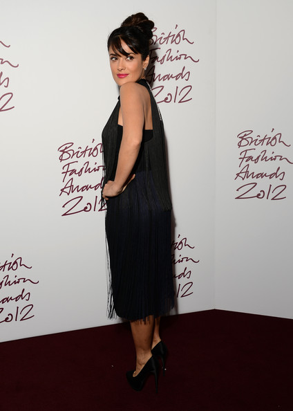 More Pics of Salma Hayek Cocktail Dress (3 of 7) - Salma Hayek Lookbook - StyleBistro