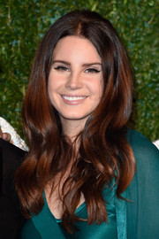 Lana Del Rey wore her hair in lush, retro-chic waves during the British Fashion Awards.