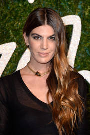 Bianca Brandolini attended the British Fashion Awards wearing her hair in a flowing side sweep.